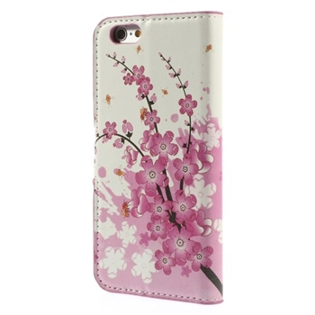 Image of   Apple iPhone 6/6s Design Flip Cover Med Pung - Plum Blossom