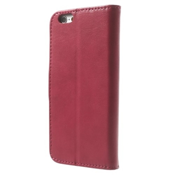 Image of   Apple iPhone 6/6s Deluxe Flip Cover Med Pung - Rosa