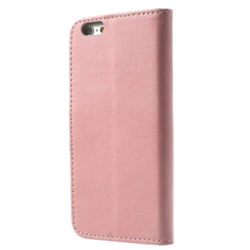 Apple iPhone 6/6s Deluxe Flip Cover Med Pung - Pink