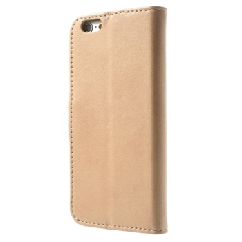 Apple iPhone 6/6s Deluxe Flip Cover Med Pung - Champagne