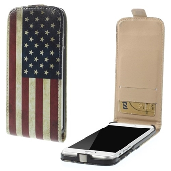 Image of   Apple iPhone 6/6s Design Flip Cover - Stars & Stripes