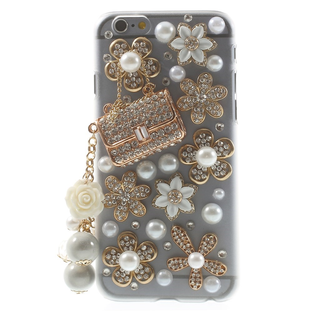 Image of   iPhone 6/6s Bling Flow Cover - Gold Rhinestone