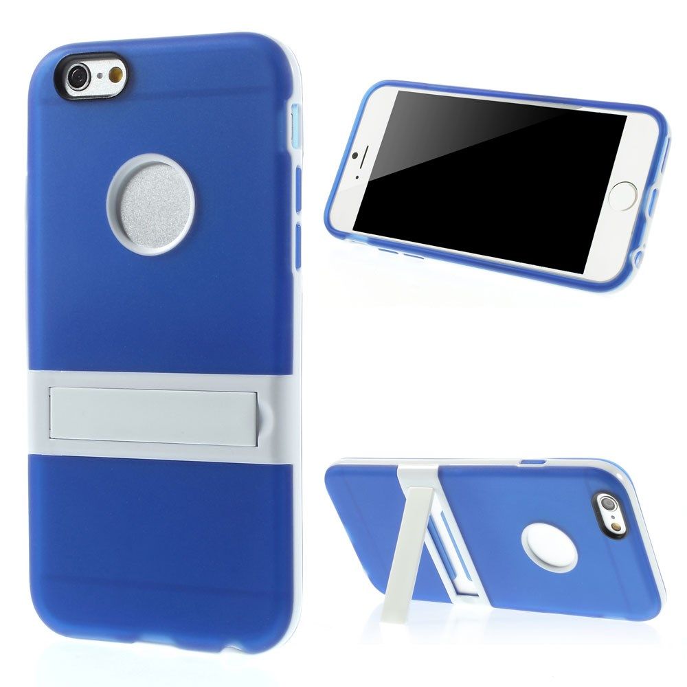 Image of   Apple iPhone 6/6s Plastik+TPU Cover m. Kickstand - Blå