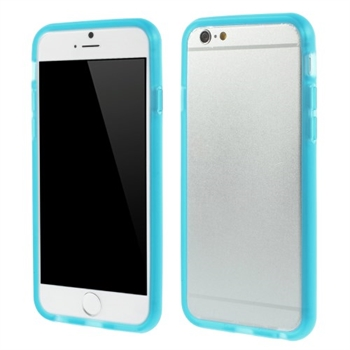 Image of   Apple iPhone 6/6s TPU Bumper Cover - Lys Blå