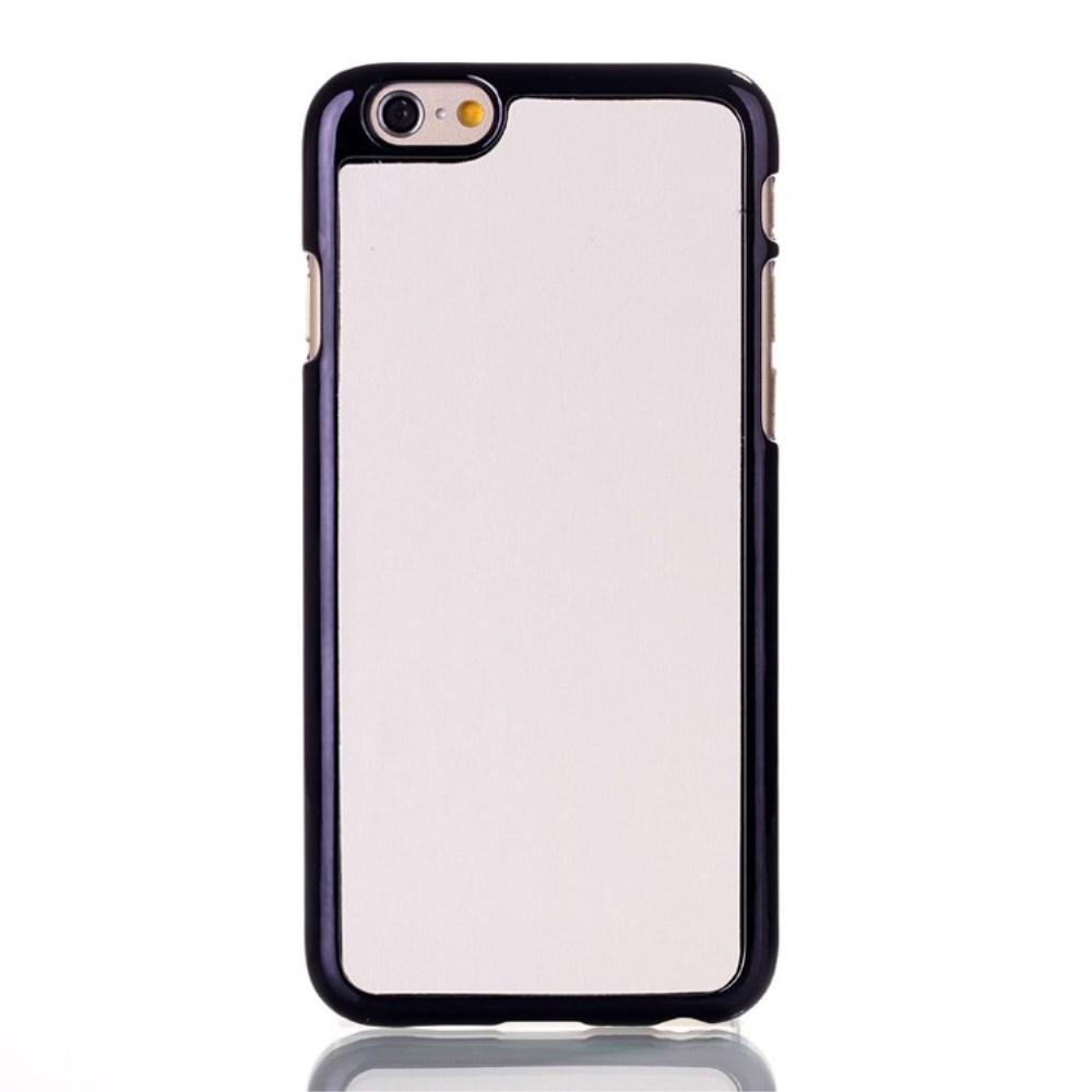 Image of   Apple iPhone 6/6s Læderbeklædt Plastik Cover - Hvid