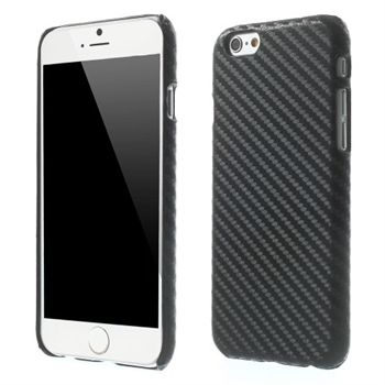 Billede af Apple iPhone 6/6s inCover Design Plastik Cover - Carbon Sort