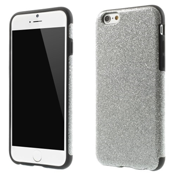 Image of   Apple iPhone 6/6s inCover Design TPU Cover - Glitter Sølv