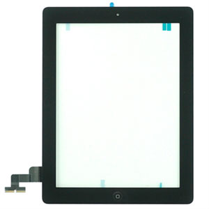 Billede af Apple iPad 2 display glas og touch screen - sort