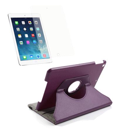 Billede af iPad Air Mega-Pakke - Rotating Cover & Skærmbeskyttelse - Lilla