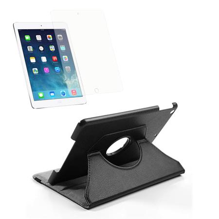 Billede af iPad Air Pakke - Rotating Cover & Skærmbeskyttelse - Sort