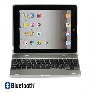 Bluetooth tastatur til Apple iPad 2, 3 og 4 - grå
