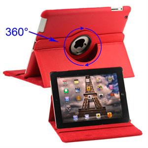 inCover Rotating Smart Cover Stand til iPad 3 og 4 - rød