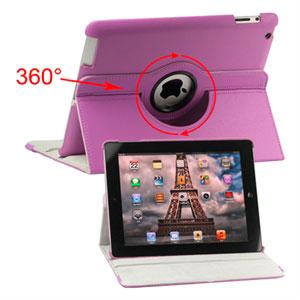 inCover Rotating Smart Cover Stand til iPad 3 og 4 - lilla