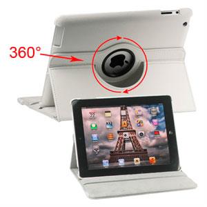 inCover Rotating Smart Cover Stand til iPad 3 og 4 - hvid