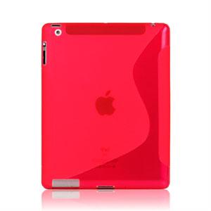 S-line TPU Gel Case Cover for Apple iPad 3 - rød