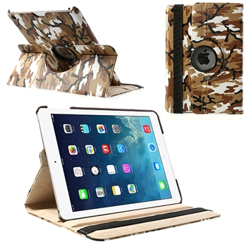 Image of   Apple iPad Air Rotating Smart Cover Stand - Brun Camo