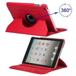 Billede af inCover Rotating Smart Cover Stand til iPad Mini - rød