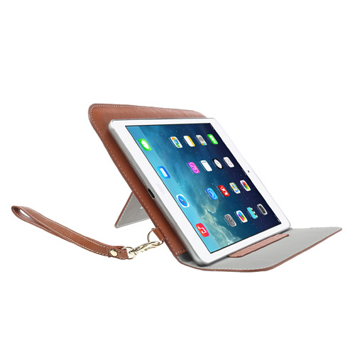 Image of   iPad Mini Læder Etui m. Stand - Brun