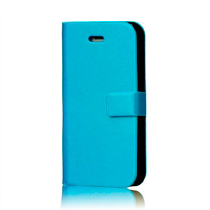 Image of   Apple iPhone 4S etui/pung - lyseblå