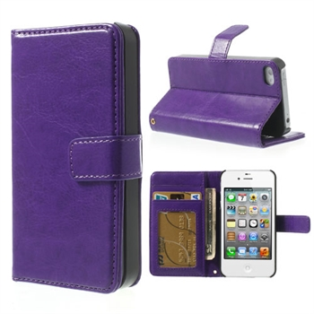 Image of   Apple iPhone 4S FlipStand Taske/Etui - Lilla