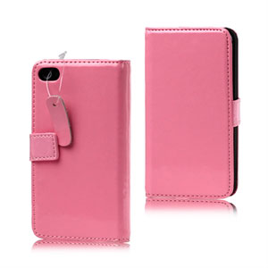 Apple iPhone 4S etui/pung - pink