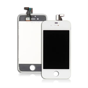 Apple iPhone 4S LCD og touch display - hvid