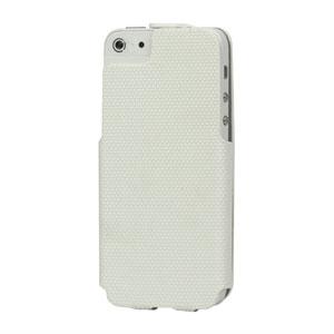 Image of   Apple iPhone 5/5S taske/etui med fliplukning - hvid
