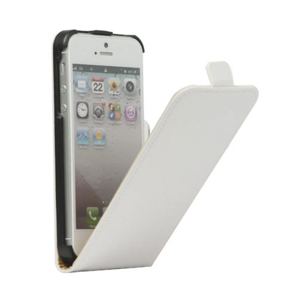 Billede af Apple iPhone 5/5s/SE inCover Premium Vertikal Flip Cover m. Magnetlukning - Hvid