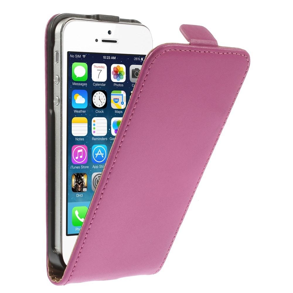 Billede af Apple iPhone 5/5s/SE inCover Premium Vertikal Flip Cover m. Magnetlukning - Pink