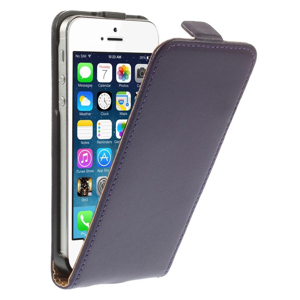 Billede af Apple iPhone 5/5s/SE inCover Premium Vertikal Flip Cover m. Magnetlukning - Lilla