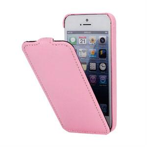 Billede af Apple iPhone 5/5S mobiltaske/etui med fliplukning - pink