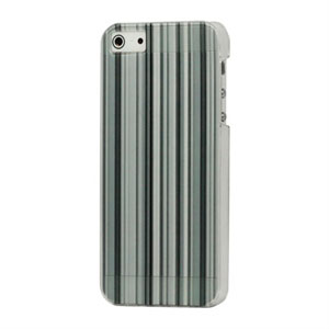 Image of   Apple iPhone 5/5S Design Plastik cover fra inCover - Grey Stripe