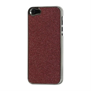 Image of   Apple iPhone 5/5S Design Plastik cover fra inCover - rød glitter