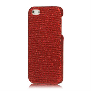 Image of   Apple iPhone 5/5S Design Plastik cover fra inCover - rød bling