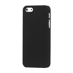 Image of   Apple iPhone 5/5S Plastik cover fra - mat sort