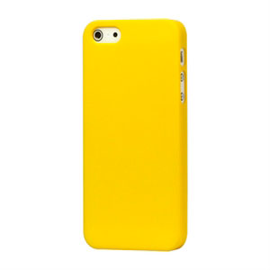 Image of   Apple iPhone 5/5S Plastik cover fra - mat gul