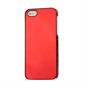 Image of   Apple iPhone 5/5S Design Plastik cover fra - Mirror rød