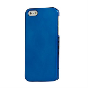 Image of   Apple iPhone 5/5S Design Plastik cover fra inCover - Mirror blå