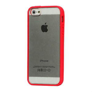 Image of   Apple iPhone 5/5S Hybrid Plastik cover - rød