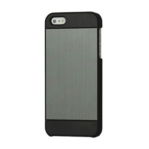 Image of   Apple iPhone 5/5S Luksus Brushed Aluminium Cover - grå