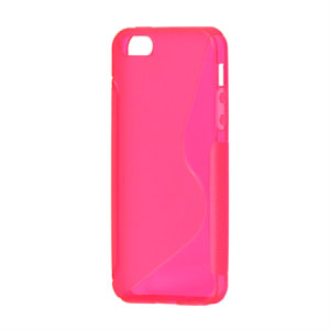 Image of   Apple iPhone 5/5S TPU S-line cover fra inCover - rosa