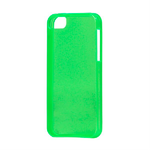 Image of   Apple iPhone 5/5S TPU cover fra inCover - klar grøn