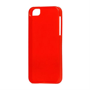 Image of   Apple iPhone 5/5S TPU cover fra inCover - klar rød