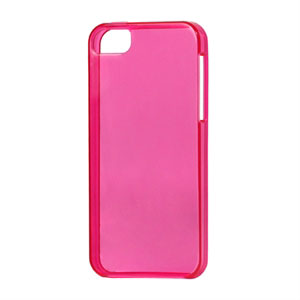Image of   Apple iPhone 5/5S TPU cover fra - klar rosa