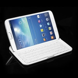 Billede af Bluetooth Tastatur I Aluminium Til Samsung Galaxy Tab 3 8.0 - Hvid