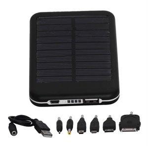 Image of   Eksternt 5000mAh batteri med solceller til dine gadgets - sort