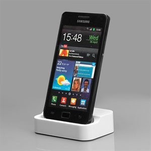 Image of   Bordlader til Samsung Galaxy S 2 - hvid