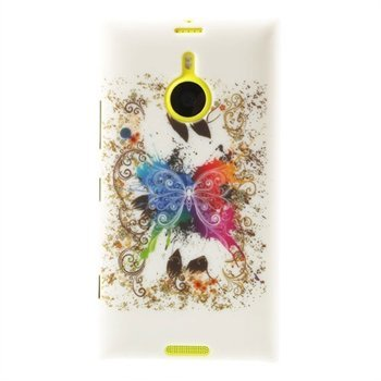 Billede af Nokia Lumia 1520 inCover Design Plastik Cover - White Butterfly