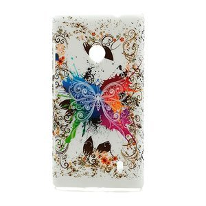 Billede af Nokia Lumia 520 inCover Design Plastik Cover - White Butterfly