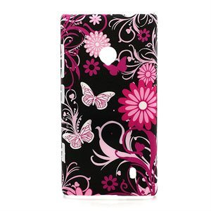 Nokia Lumia 520 inCover Design Plastik Cover - Butterfly Flowers